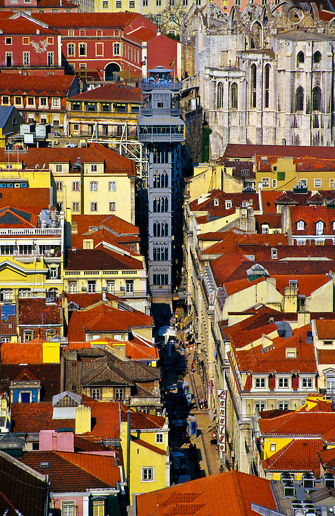 Santa Justa Elevator, Lisbon, Portugal