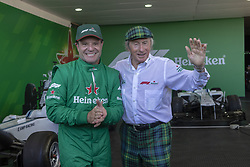 November 10, 2018 - Porto Alegre, Brazil - PORTO ALEGRE, RS - 10.11.2018: HEINEKEN F1 EXPERIENCE PORTO ALEGRE - Rubens Barrichello ex-F1 driver and current Stock Car driver and Jackie Stewart three-time F1 world champion (1969, 1971 and 1973) during the Heineken F1 Experience in Porto Alegre. (Credit Image: © Raul Pereira/Fotoarena via ZUMA Press)