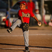 D-Backs Brayden Ashley pitches during a D-Backs-Cubs baseball game on Thursday at Indian Hill Park in Gallup.
