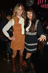 Left to right, WHINNIE WILLIAMS and ZARA MARTIN at a party to celebrate the 1st anniversary of Hello! Fashion Monthly magazine held at Charlie, 15 Berkeley Street, London on 14th October 2015.