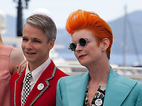 director Cameron Mitchell and designer Sandy Powell at the How To Talk To Girls At Parties film photo call at the 70th Cannes Film Festival Sunday 21st May 2017, Cannes, France. Photo credit: Doreen Kennedy