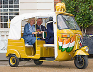 Prince Charles & Camiila Ride a Rickshaw, Clarence House