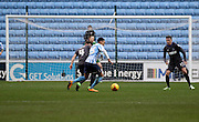 Coventry City Striker Jacob Murphy pushes forward during the Sky Bet League 1 match between Coventry City and Bury at the Ricoh Arena, Coventry, England on 13 February 2016. Photo by Chris Wynne.