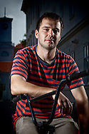 BMX Cycling, Young Men, Portrait, Cool Attitude,
