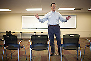 Republican presidential candidate, former Sen. Rick Santorum speaks at a sparsely attended town hall event in Ft. Madison, Iowa, July 28, 2011.