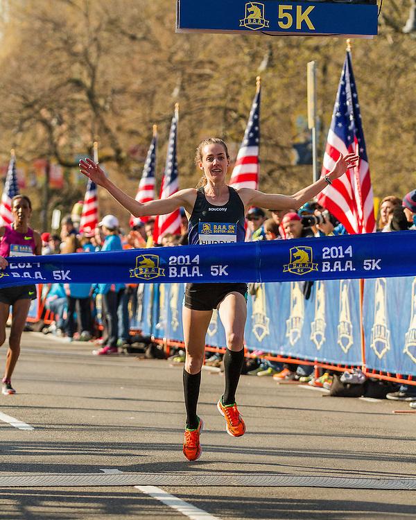 BAA 5K, Molly Huddle wins