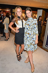 Left to right, DAISY JENKS and ADELAIDE BOLITHO at a party to celebrate the opening of Mappin & Webb's Flagship Regent Street Boutique at 132 Regent Street, London on 28th June 2016.