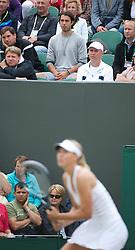 LONDON, ENGLAND - Saturday, June 25, 2011: Maria Sharapova's boyfriend Sasha Vujacic during the Ladies' Singles 3rd Round match on day six of the Wimbledon Lawn Tennis Championships at the All England Lawn Tennis and Croquet Club. (Pic by David Rawcliffe/Propaganda)