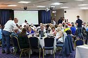 AFC Wimbledon hospitality during the EFL Sky Bet League 1 match between AFC Wimbledon and Wycombe Wanderers at the Cherry Red Records Stadium, Kingston, England on 31 August 2019.