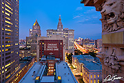 View from the roof of Reade57 in Tribeca New York City.