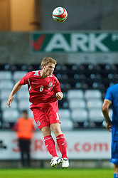 SWANSEA, ENGLAND - Friday, September 4, 2009: Wales' Christian Ribeiro in action against Italy during the UEFA Under 21 Championship Qualifying Group 3 match at the Liberty Stadium. (Photo by David Rawcliffe/Propaganda)