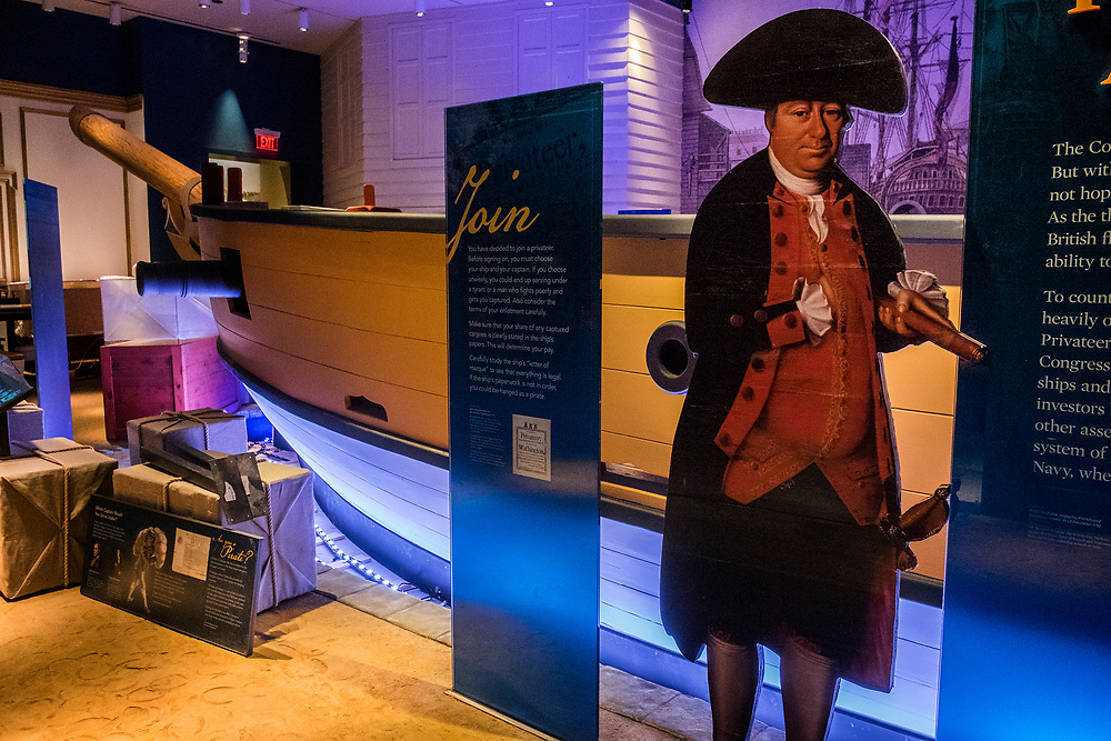 Thursday,  February 23, 2017, The Museum of the American Revolution  Here,  a privateers boat. ED HILLE . Staff Photographer