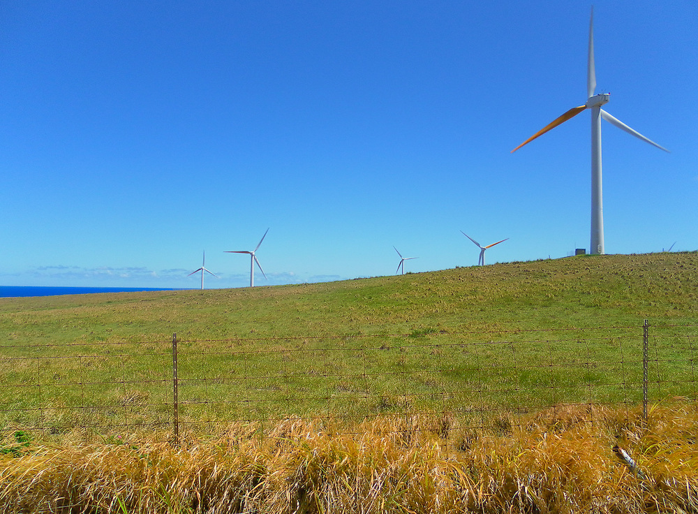 Windfarm in the north part of Hawaii Big Island.
