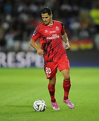 Sevilla's Vitolo - Photo mandatory by-line: Joe Meredith/JMP - Mobile: 07966 386802 12/08/2014 - SPORT - FOOTBALL - Cardiff - Cardiff City Stadium - Real Madrid v Sevilla - UEFA Super Cup
