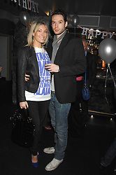 OLIVIA BUCKINGHAM and OLLIE BREACH at a party to celebrate the 1st birthday of nightclub Kitts, 7-12 Sloane Square, London on 5th March 2008.<br /><br />NON EXCLUSIVE - WORLD RIGHTS