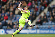 Brighton winger, Jamie Murphy (15) scores but is ruled offside during the Sky Bet Championship match between Preston North End and Brighton and Hove Albion at Deepdale, Preston, England on 5 March 2016.