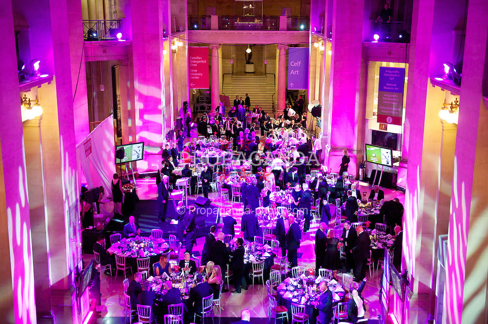 CARDIFF, WALES - Tuesday, October 4, 2011: The Wales National Museum is transformed into the venue for the  FAW Footballer of the Year Awards 2011. (Pic by David Rawcliffe/Propaganda)