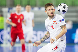 Dominik Solecki of Poland during futsal match between Russia and Poland at Day 1 of UEFA Futsal EURO 2018, on January 30, 2018 in Arena Stozice, Ljubljana, Slovenia. Photo by Ziga Zupan / Sportida