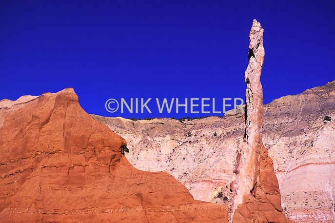 Dramatic rock formation formed by wind and water erosion in Kodachrome Canyon State Park near Boulder/Escalante in Utah USA