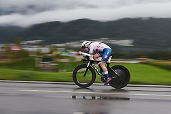 Elynor Backstedt (GBR) at UCI Road World Championships 2018 - Junior Women's ITT, a 19.8 km individual time trial in Innsbruck, Austria on September 24, 2018. Photo by Sean Robinson/velofocus.com