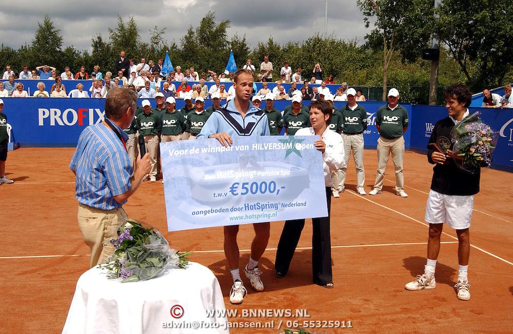 Hilversum Open 2003, Martin Verkerk - John van Lottum, prijsuitreiking