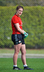 LARNACA, CYPRUS - Thursday, March 1, 2018: Wales' goalkeeper Claire Skinner during a training session in Larnaca on day three of the Cyprus Cup tournament. (Pic by David Rawcliffe/Propaganda)
