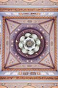 Ceiling shot taken inside Jumeirah Mosque in Dubai, UAE