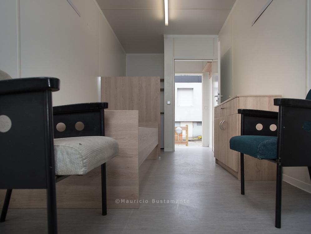 Möblierte Wohncontainer für Obdachlose