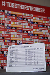 CARDIFF, WALES - Thursday, March 16, 2017: Chris Coleman's squad list ahead of a press conference at the Vale Resort to announce the squad for the forthcoming 2018 FIFA World Cup Qualifying Group D match against Republic of Ireland. (Pic by David Rawcliffe/Propaganda)