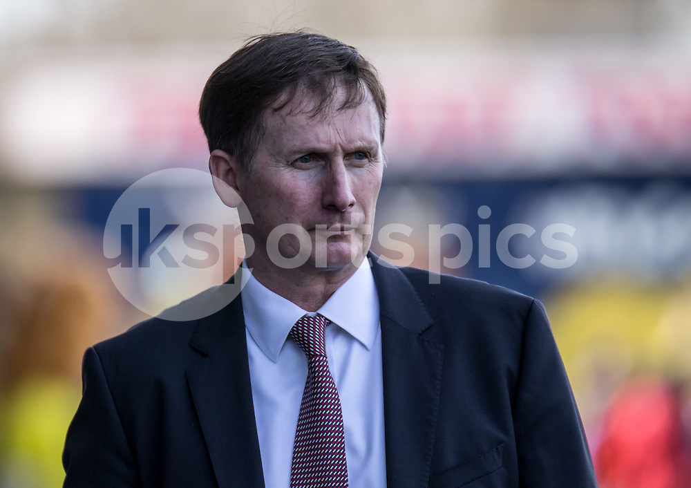 Glenn Roeder the new managerial advisor until the end of the season during the Sky Bet League 2 match between Oxford United and Stevenage at the Kassam Stadium, Oxford, England on the 25th March 2016. Photo by Liam McAvoy.