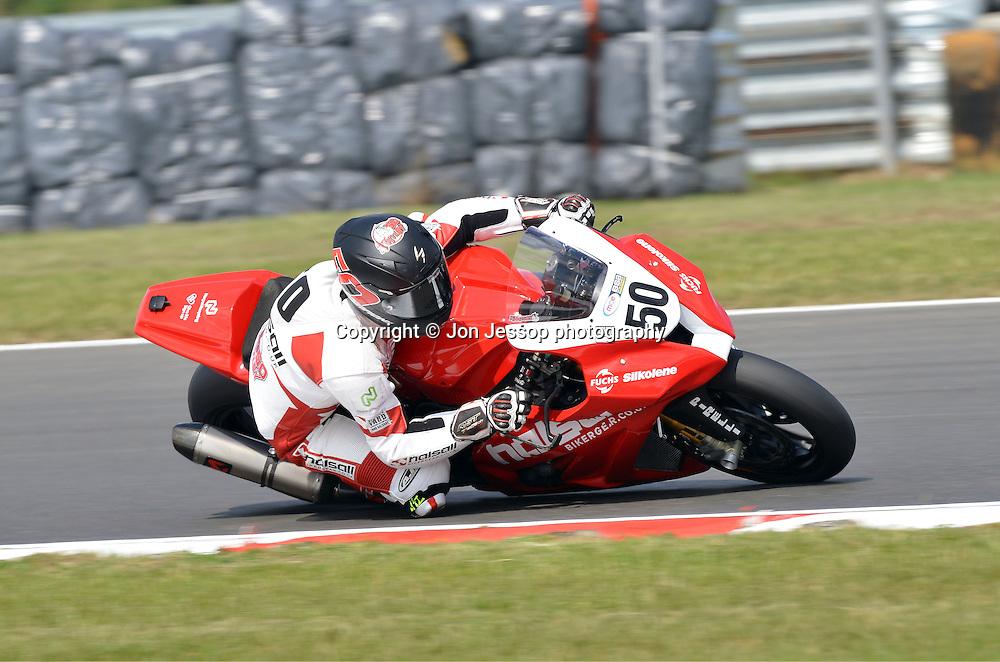 #50 Harry Hartley Halsall Biker Gear Kawasaki British Superbikes