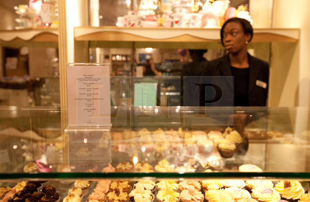 """© under license to London News Pictures. 25/03/2011: UKUncut protesters occupy Fortnum and Mason in Piccadilly during a day of anticuts protests across London. Protesters say the owners of the business avoid £10 million in corporation tax every year as they are registered offshore in Luxemburg. Credit should read """"Joel Goodman/London News Pictures""""."""