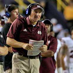 Sep 17, 2016; Baton Rouge, LA, USA;  Mississippi State Bulldogs head coach Dan Mullen during the second half of a game against the LSU Tigers at Tiger Stadium. LSU defeated Mississippi State 23-20. Mandatory Credit: Derick E. Hingle-USA TODAY Sports