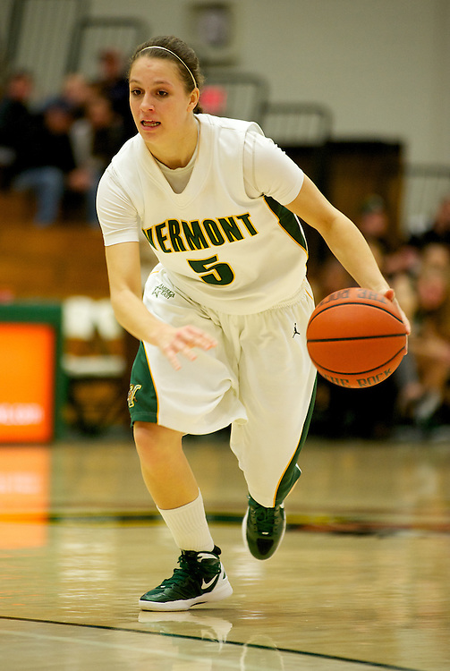 The women's basketball game between the Dartmouth Big Green and the Vermont Catamounts at Patrick Gym on Tuesday night November 22, 2011 in Burlington, Vermont.