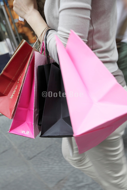 female person on a shopping spree