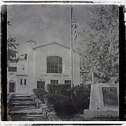 Daguerrotype square image of the Hillcrest Recreation Center in Fullerton, CA.