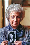 1998, MIlano: Estela Carlotto presidente delle Abuelas de Plaza de Mayo. Nella foto la figlia Laura scomparsa nel 1978-ph.Isabella Balena©