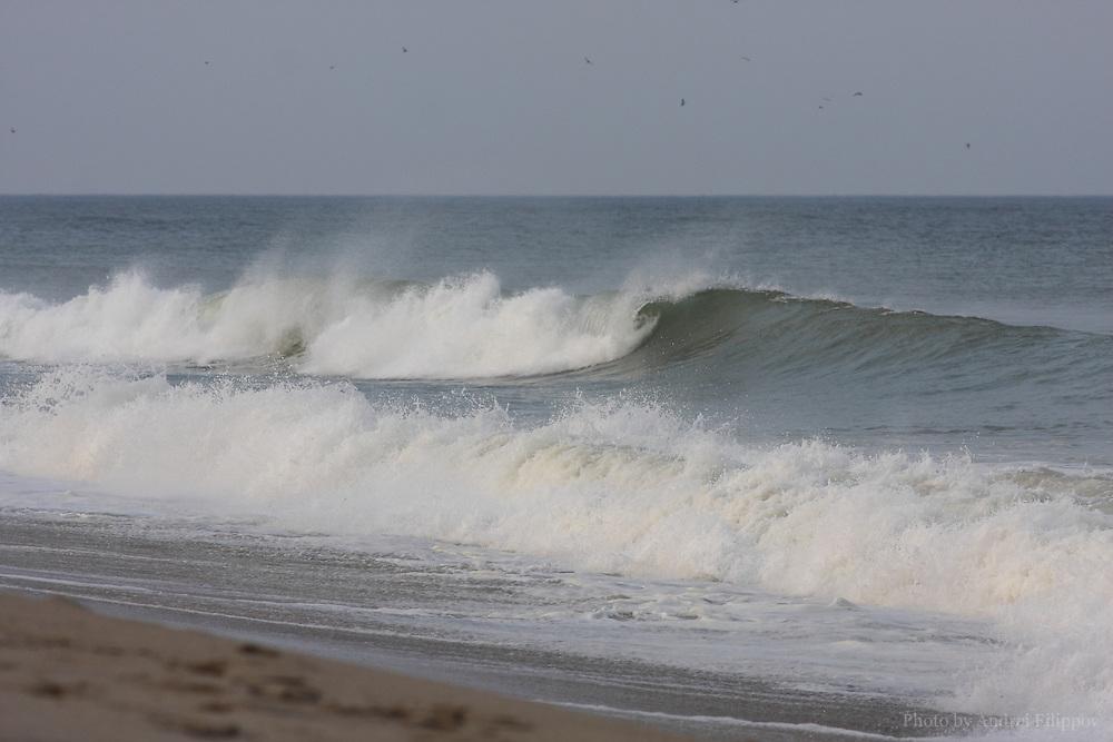 Tide at the Marconi Beach, Cape Cod, Massachusetts, USA, September 3, 2011.