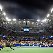 2019 US Open Tennis Tournament- Day Ten.  A panoramic general view of Rafael Nadal of Spain in action against Diego Schwartzman of Argentina in the Men's Singles Quarter-Finals match on Arthur Ashe Stadium during the 2019 US Open Tennis Tournament at the USTA Billie Jean King National Tennis Center on September 4th, 2019 in Flushing, Queens, New York City.  (Photo by Tim Clayton/Corbis via Getty Images)