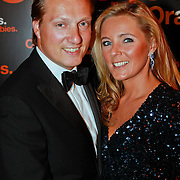 NLD/Noordwijk/20110625 - Orange Babies Gala 2011, David Bijlsma en partner Ghitta