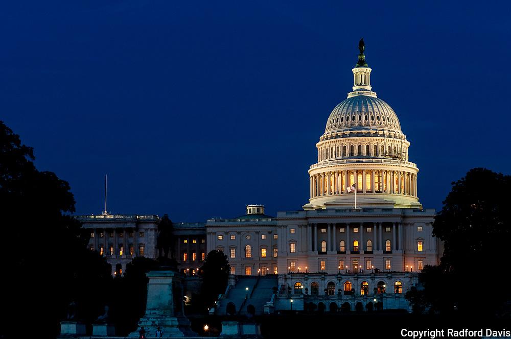 Capitol at night, Washington DC