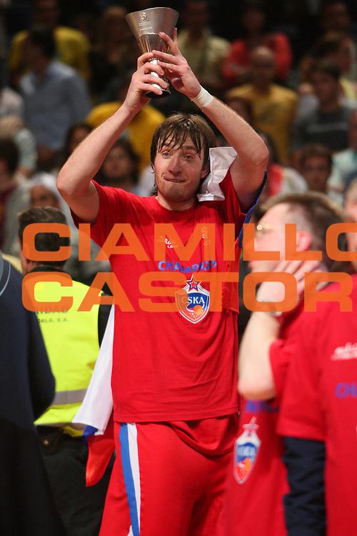 DESCRIZIONE : Madrid Eurolega 2007-08 Finale Maccabi Tel Aviv Cska Mosca <br /> GIOCATORE : Matjaz Smodis <br /> SQUADRA : Cska Mosca <br /> EVENTO : Eurolega 2007-2008 <br /> GARA : Maccabi Tel Aviv Cska Mosca <br /> DATA : 04/05/2008 <br /> CATEGORIA : Esultanza <br /> SPORT : Pallacanestro <br /> AUTORE : Agenzia Ciamillo-Castoria/S.Silvestri <br /> Galleria : Eurolega 2007-2008 <br /> Fotonotizia : Madrid Eurolega 2007-2008 Final Four Finale Maccabi Tel Aviv Cska Mosca<br /> Predefinita :