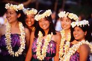 Hula dancer, Waikiki Beach, Oahu, Hawaii