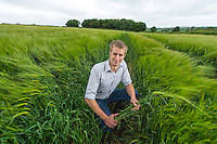 Picture By Jim Wileman  14/06/2013  Farmworker Dominic Hutter, pictured at Park Farm, Curry Mallet, near Taunton, Somerset.