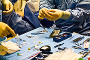 Two syringes full of the genetic material are prepared in an operating room at the UPenn Medical Center in Philadelphia, PA on Thursday, September 25, 2008.