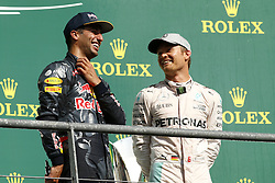 August 28, 2016 - Spa Francorchamps, Belgium - Motorsports: FIA Formula One World Championship 2016, Grand Prix of Belgium, .#3 Daniel Ricciardo (AUS, Red Bull Racing), #6 Nico Rosberg (GER, Mercedes AMG Petronas Formula One Team) (Credit Image: © Hoch Zwei via ZUMA Wire)