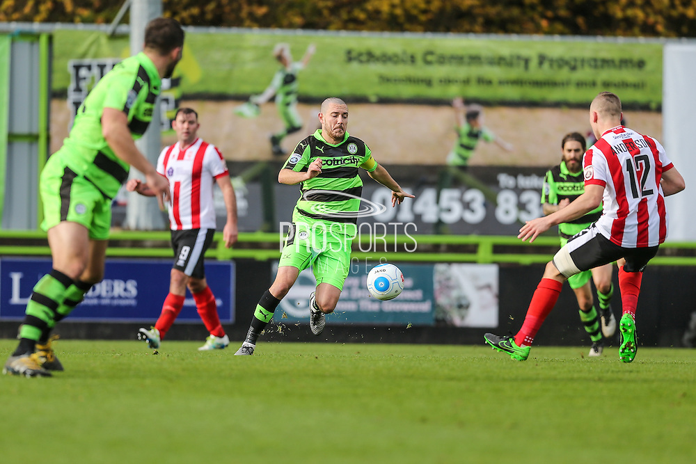 Forest Green Rovers Liam Noble(15) kicks the ball during the Vanarama National League match between Forest Green Rovers and Lincoln City at the New Lawn, Forest Green, United Kingdom on 19 November 2016. Photo by Shane Healey.