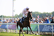 STARCASTER (8) ridden by Jamie Spencer and trained in MIddleham by Jedd O'Keeffe winning The Lindum Construction Group Handicap Stakes over 1m 4f (£20,000)  during the first day of the Dante Festival at York Racecourse, York, United Kingdom on 15 May 2019.