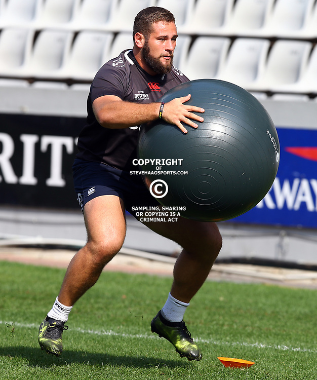 Thomas du Toit  during The Cell C Sharks captain's run at Growthpoint Kings Park in Durban, South Africa. 3rd August 2017(Photo by Steve Haag)<br /> <br /> images for social media must have consent from Steve Haag