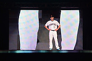 PHOENIX, AZ - DEC 3: D-backs A.J. Pollock walks down the runway in one of the new 2016 uniforms. (Photo by Jennifer Stewart/Arizona Diamondbacks)
